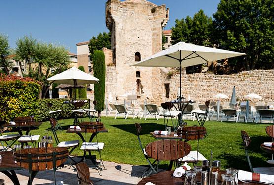 Terrasse du restaurant l'Orangerie
