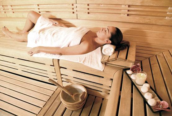 Sauna Finlanfais relaxant et parfumé
